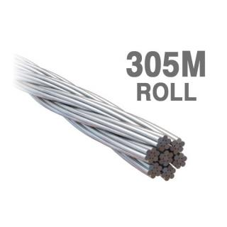 WE3.277  Econ Wire Rope 3.2mm 7x7 316 Grade Stainless Steel 305 Metre Roll
