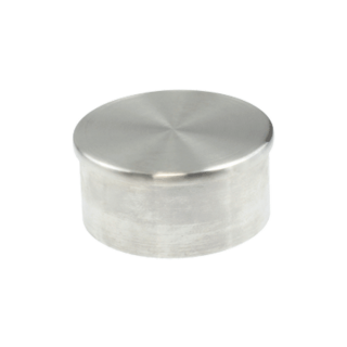 P5020-16SF - ProRail 50.8 x 1.6mm Standard End Cap Satin Finishh 316 Grade Stainless Steel